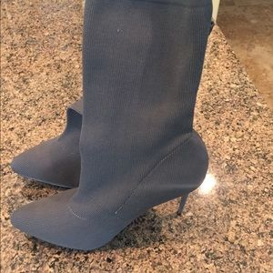 Shoes - Gray High Heeled Boots